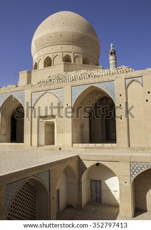 Mosque with traditional color mosaic, Iran. - stock photo