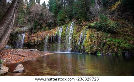 Mossbrae Fall, California - stock photo