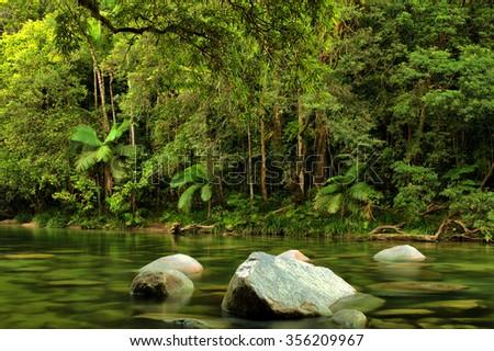 Mossman River, Daintree National Park, Queensland, Australia - stock photo