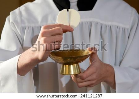 Most Holy Eucharist  - stock photo