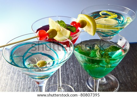 Most popular cocktails series - stock photo