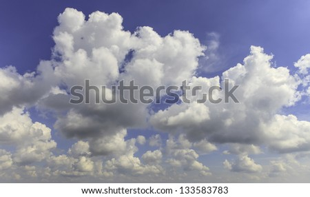 Mostly cloudy bright days. - stock photo