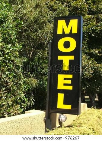 Motel sign - stock photo