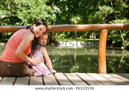 Mother and child portrait - stock photo