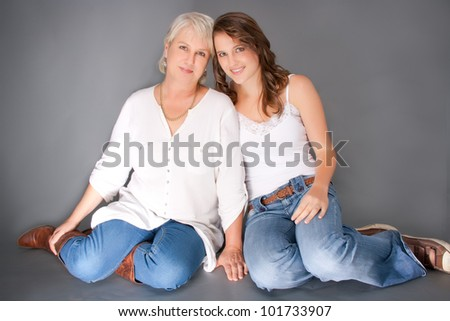 Mother and daughter loving each other - stock photo