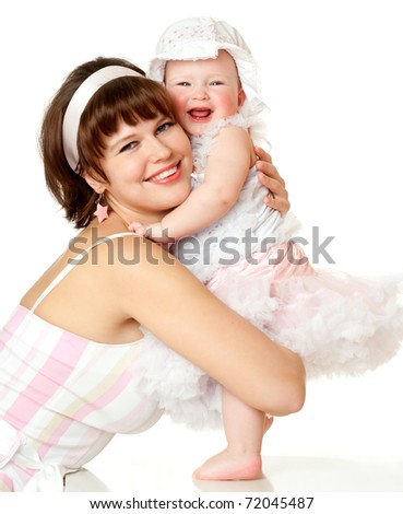mother and her baby girl - stock photo