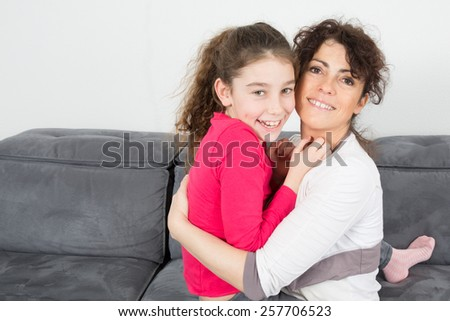 Mother and her daughter , complicity - stock photo