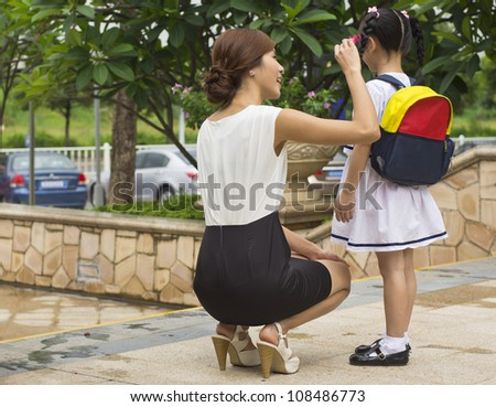 mother & daughter - stock photo