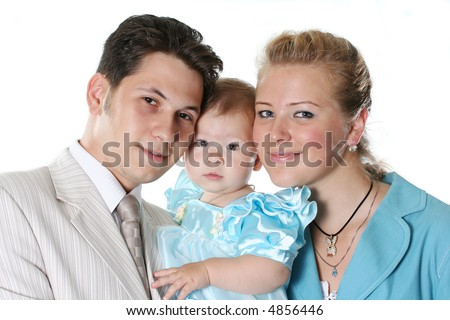 mother daughter love family child parent father - stock photo