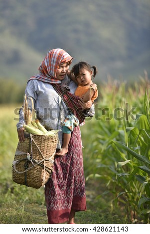 mother farmers. - stock photo