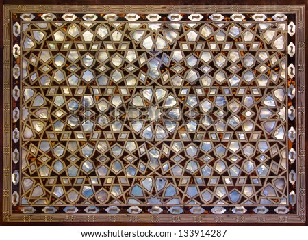 Mother of Pearl Mosaic from Istanbul. - stock photo