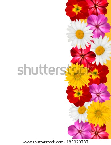 Mother's Day Concept. Holiday background with colorful flowers. Raster version - stock photo
