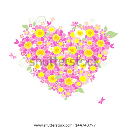 Mother's Day congratulation card. Raster copy of vector image - stock photo