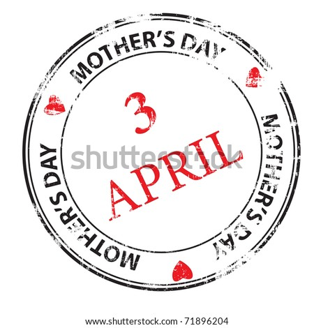 Mother's day grunge rubber stamp vector illustration - stock photo