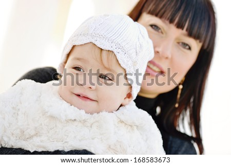 mother with her baby girl   - stock photo