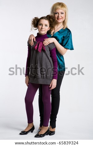 mother with her daughter - stock photo