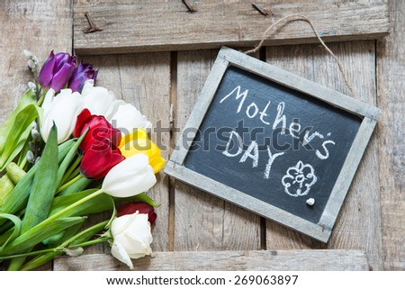 Mothers day background - stock photo