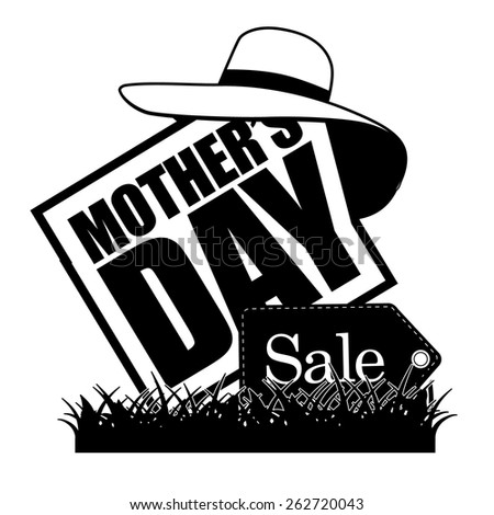 Mothers Day sale icon royalty free illustration for greeting card, ad, promotion, poster, flier, blog, article, social media, marketing, flyer, web page, signage - stock photo