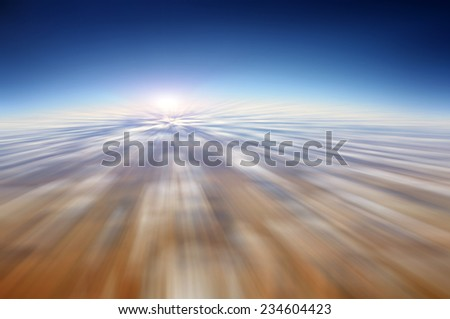 Motion blur abstract background - fast moving in the sky - stock photo