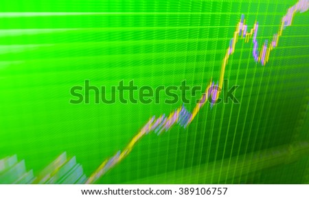 Motion blur effect. Market analysis for variation report of share price. Stock market graph and bar chart price display.  Share price quotes. Background stock chart. Price chart bars.  - stock photo