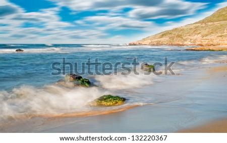 motion blur in Sardinia - stock photo