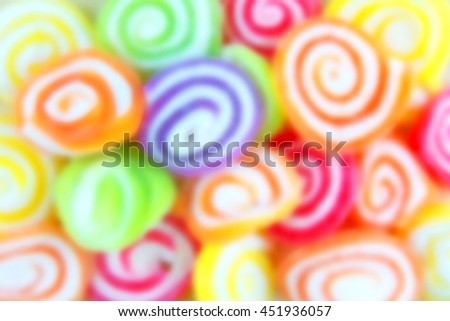 Motion blur of Jelly sweet, flavor fruit, candy dessert colorful. - stock photo