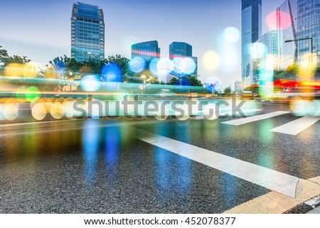 motion blurred urban traffic - stock photo