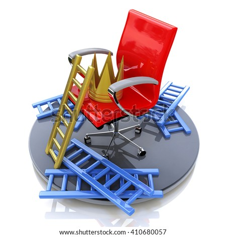 motivation not to give up when you make information related to the success and failure.3D Illustration - stock photo