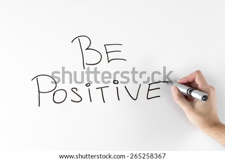 Motivation quote on white board - stock photo