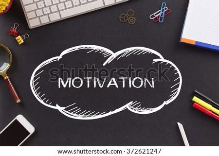 MOTIVATION written on Chalkboard - stock photo