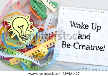 Motivational Business Quote About Creativity - stock photo