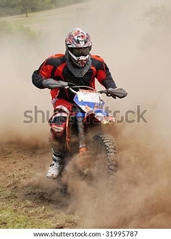 moto race - stock photo