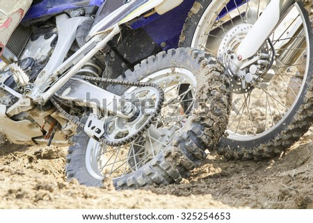 Motocross crash - stock photo