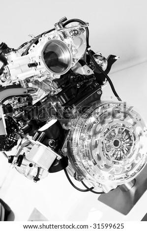 motor-car engine - stock photo