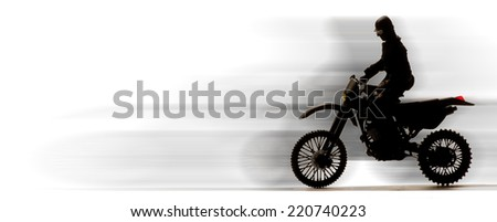 Motor Dirt bike with room for your type. - stock photo