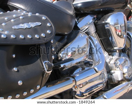 motor of a motorcycle - stock photo