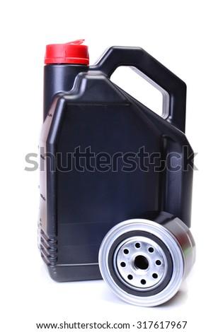 Motor oil - stock photo