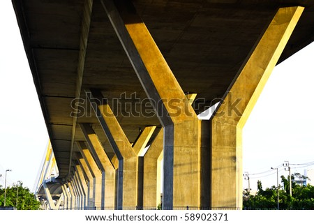 Motor way bridge - stock photo