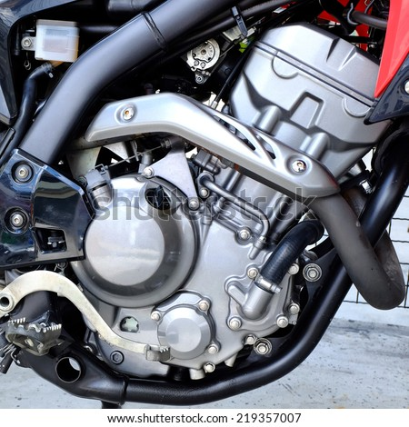 Motorbike engine - stock photo