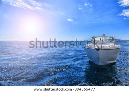Motorboat - stock photo