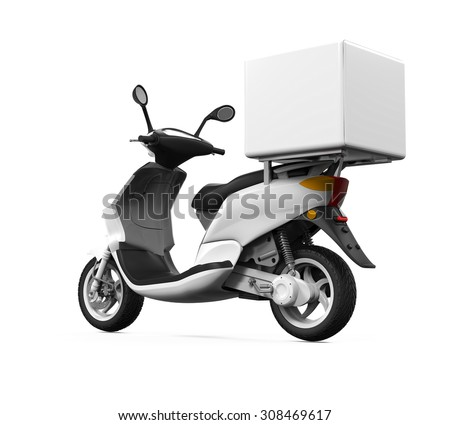 Motorcycle Delivery Box - stock photo
