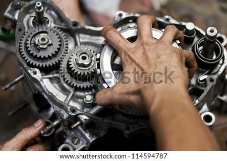 motorcycle repair stock photos images pictures