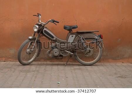 Motorcycle in Marrakesh - stock photo