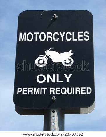 Motorcycles only sign - stock photo