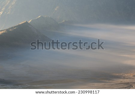 Mount Bromo in Java in Indonesia - stock photo