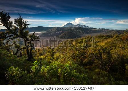Mount Bromo, Java, Indonesia - stock photo