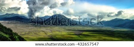 Mount Bromo volcano, East Java, Indonesia. - stock photo