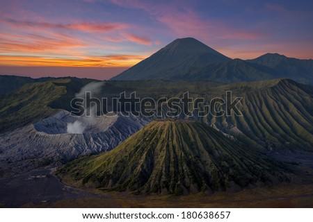 Mount Bromo volcanoes Indonesia. - stock photo
