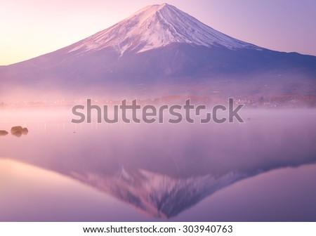 Mount Fuji morning,Kawaguchiko. - stock photo