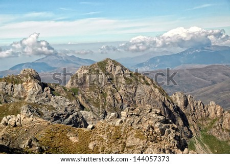 Mount Korab , Macedonia, Albania , mountaineering concept, hiking concept - stock photo